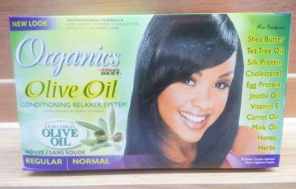 Organics by Africa's Best Olive Oil Conditioning No-Lye Relaxer S
